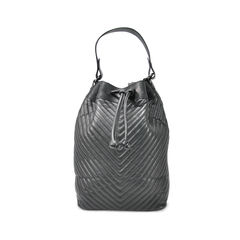 Chevron Quilted Bucket Backpack