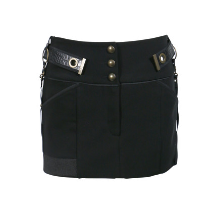 Authentic Second Hand Anthony Vaccarello Metal Yokes Mini Skirt (PSS-200-00076)