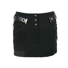Metal Yokes Mini Skirt