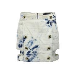 Acid Washed Cutout Skirt