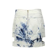 Anthony vaccarello acid washed cutout skirt 2