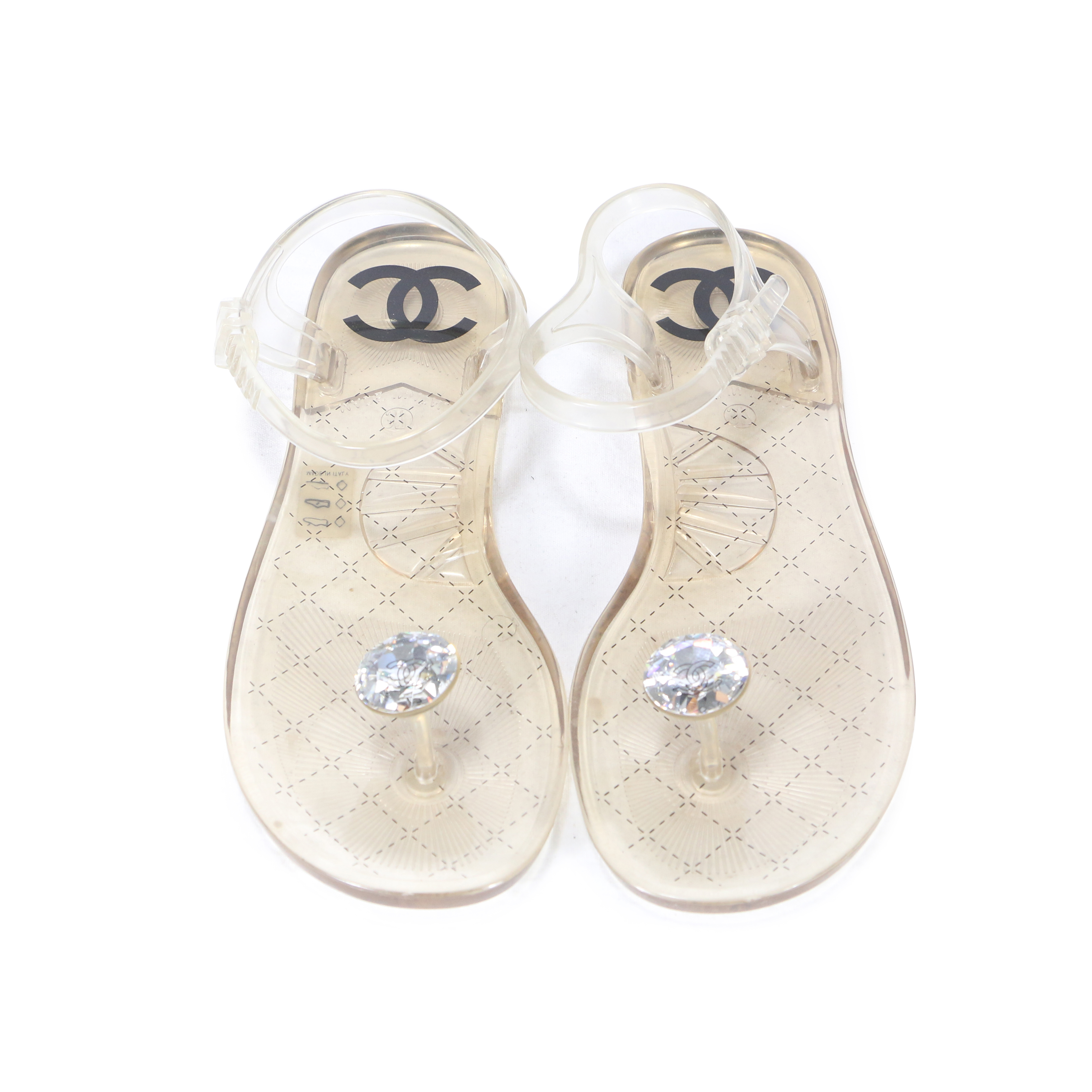 8c1896536723 Authentic Second Hand Chanel Diamond Beach Jelly Sandals (PSS-200-00212)
