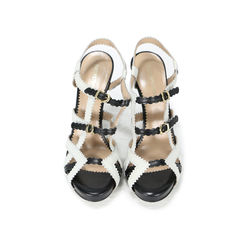 Leather Strap Buckle Sandals