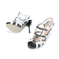 Emporio armani leather strap buckle sandals 2