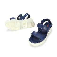 Prada blue velcro platform sandals 2