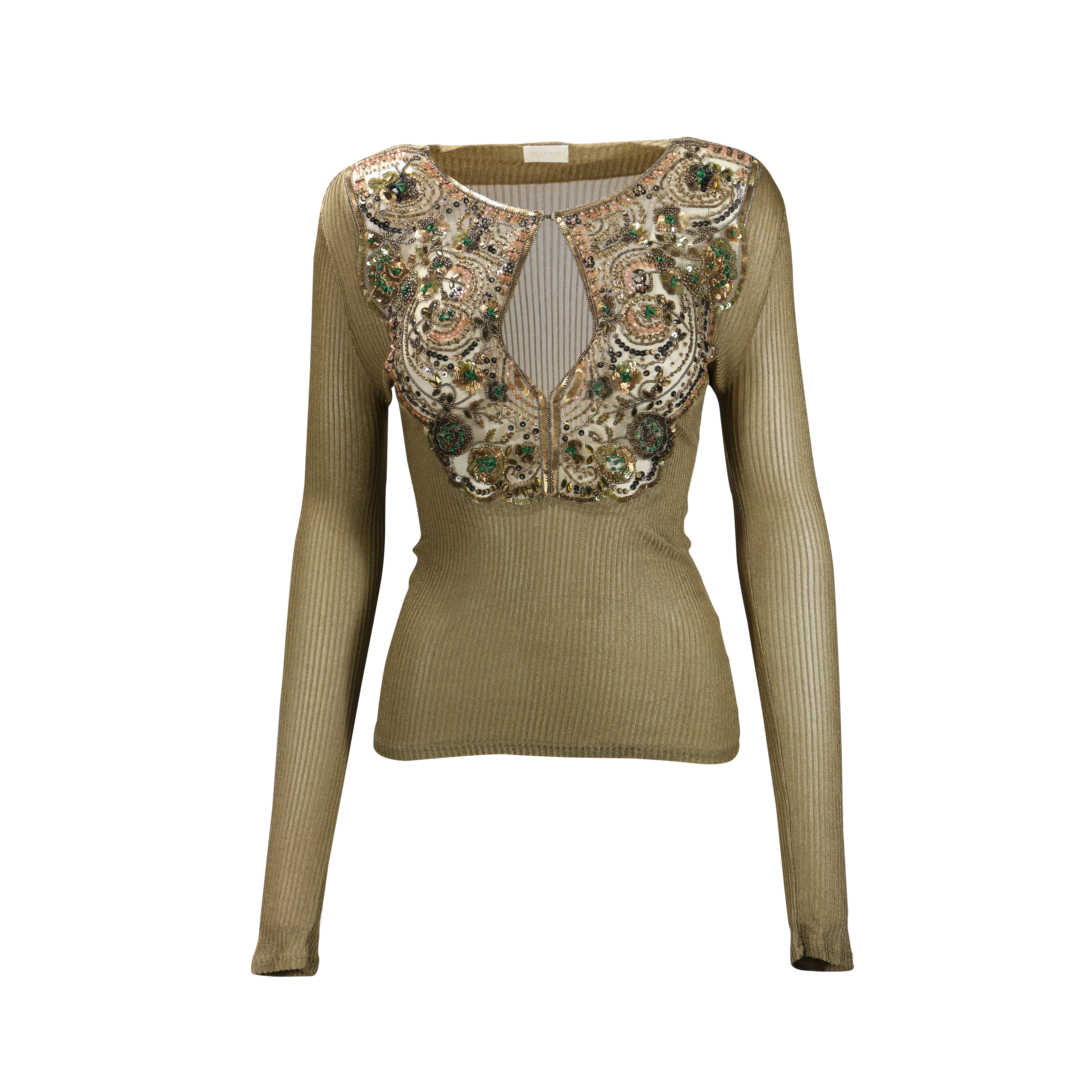 fd2b593fc90a19 Authentic Second Hand Valentino Embellished Knit Top (PSS-238-00010 ...