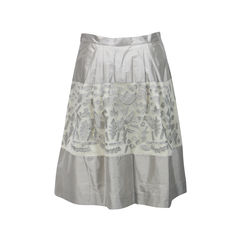 Max mara applique silk skirt 2
