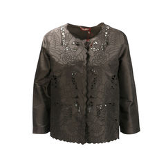 Embroidered Cut Out Jacket