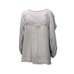 Day by birger et mikkelsen lace trim button front top 2