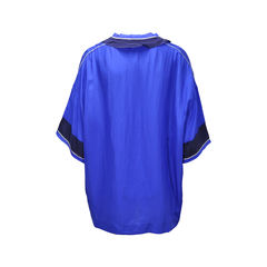 Lanvin blue washed silk top 2