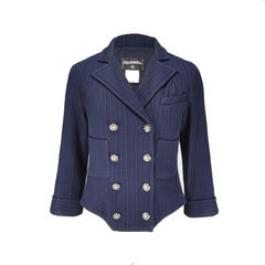 Quilted Enamel Button Jacket