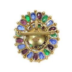 Chanel gripoix brooch pendant multicolour 2
