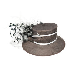 Feather Brimmed Hat