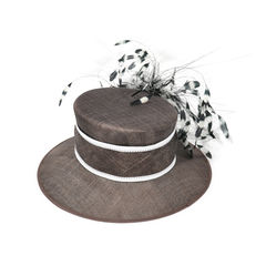 Nigel rayment feather brimmed hat 2