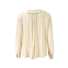 Chloe crepe tie front button blouse 2