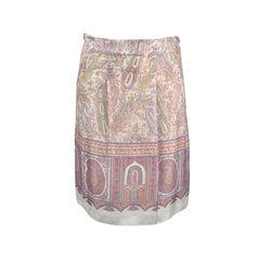 Paisley Silk Skirt