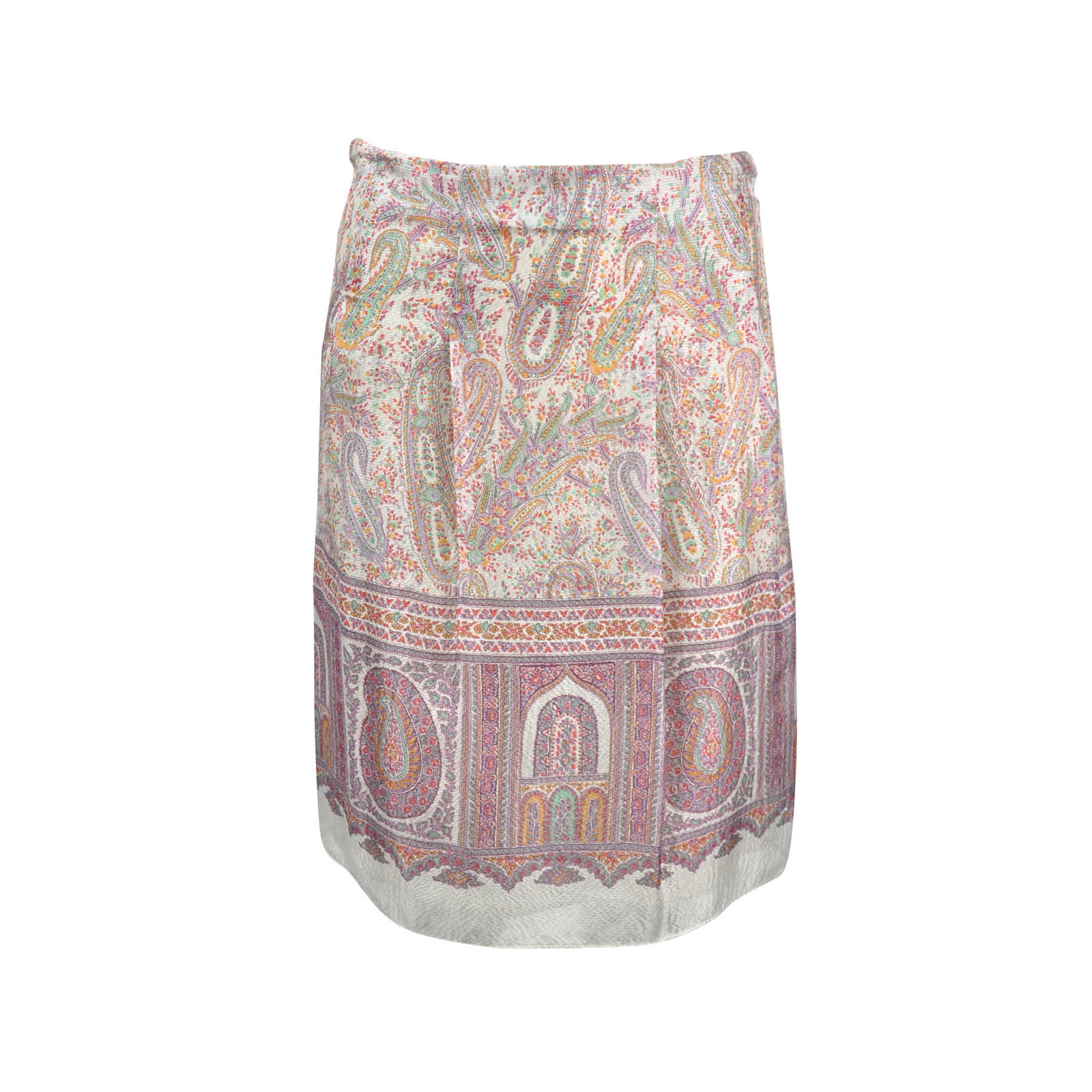 5a3f618256 Authentic Second Hand Etro Paisley Silk Skirt (PSS-246-00242) - Thumbnail  ...