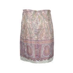 Etro paisley silk skirt 2