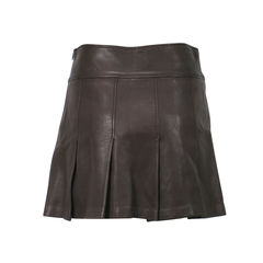 Burberry pleated leather skirt 2