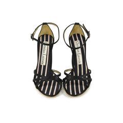 Satin T-Front Sandals