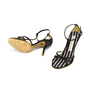 Authentic Second Hand Christian Lacroix Satin T-Front Sandals (PSS-034-00006) - Thumbnail 3