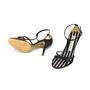 Authentic Second Hand Christian Lacroix Satin T-Front Sandals (PSS-034-00006) - Thumbnail 1