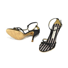 Christian lacroix satin t front sandals 2