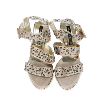 Authentic Second Hand Albano Embellished Strap Sandals (PSS-200-00264)