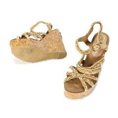 Chanel platform cork shoes 2