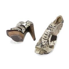 Raphael young snakeskin wood platform sandals 2