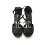 Authentic Second Hand Chanel CC Logo Platform Sandals (PSS-200-00283) - Thumbnail 0