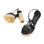 Authentic Second Hand Chanel CC Logo Platform Sandals (PSS-200-00283) - Thumbnail 1
