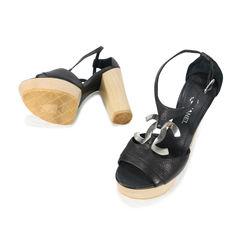 Chanel cc logo t strap platform sandals 2