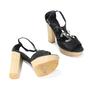 Authentic Second Hand Chanel CC Logo Platform Sandals (PSS-200-00283) - Thumbnail 2