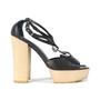 Authentic Second Hand Chanel CC Logo Platform Sandals (PSS-200-00283) - Thumbnail 3