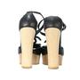 Authentic Second Hand Chanel CC Logo Platform Sandals (PSS-200-00283) - Thumbnail 4