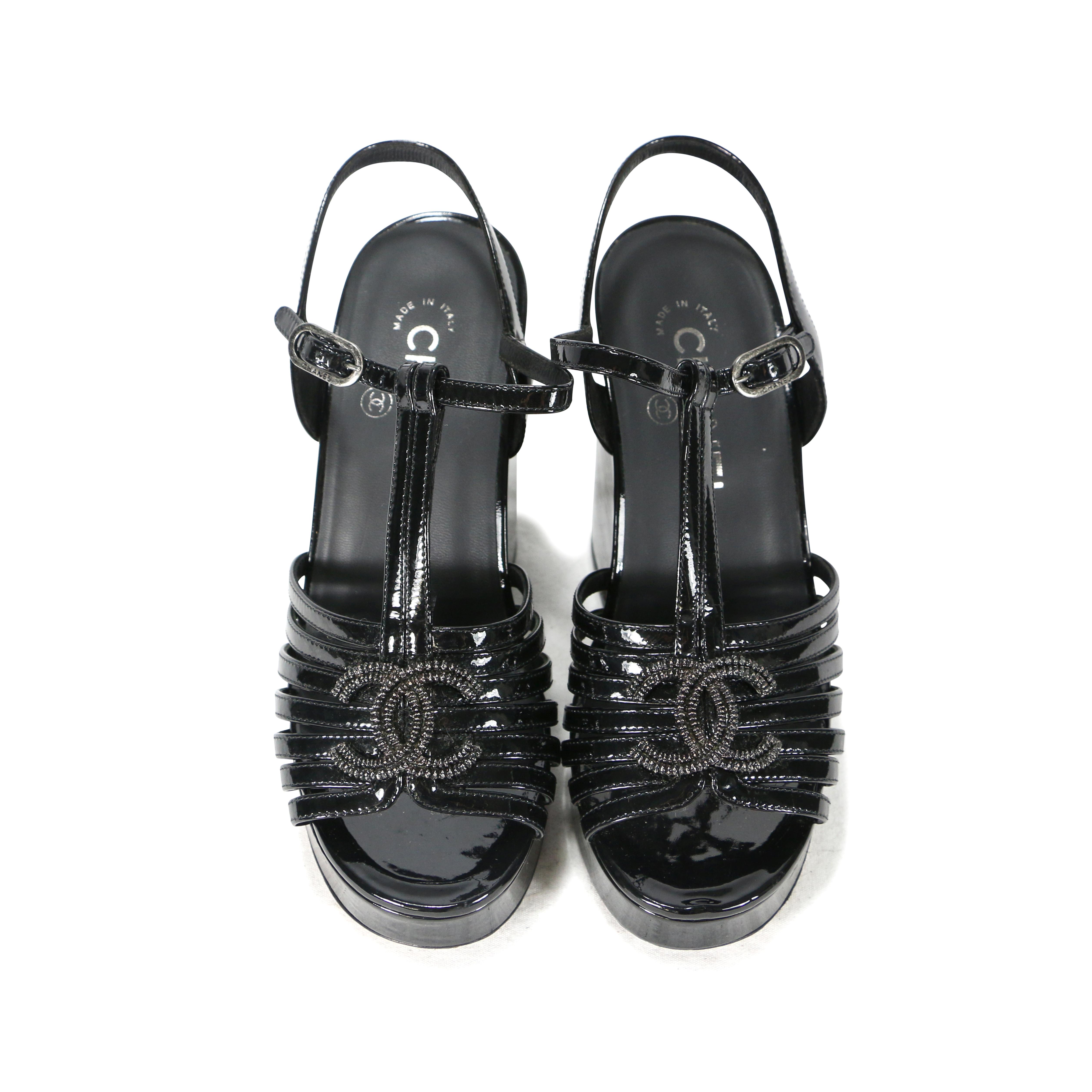 320541d9633d Authentic Second Hand Chanel Patent Leather T Strap Platforms  (PSS-200-00284)
