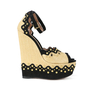 Authentic Second Hand Azzedine Alaïa Studded Rafia Wedge Sandals (PSS-200-00289) - Thumbnail 3