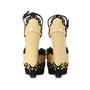 Authentic Second Hand Azzedine Alaïa Studded Rafia Wedge Sandals (PSS-200-00289) - Thumbnail 4