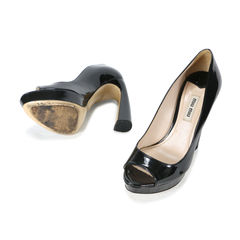 Miu miu patent platform peep toe pumps 2