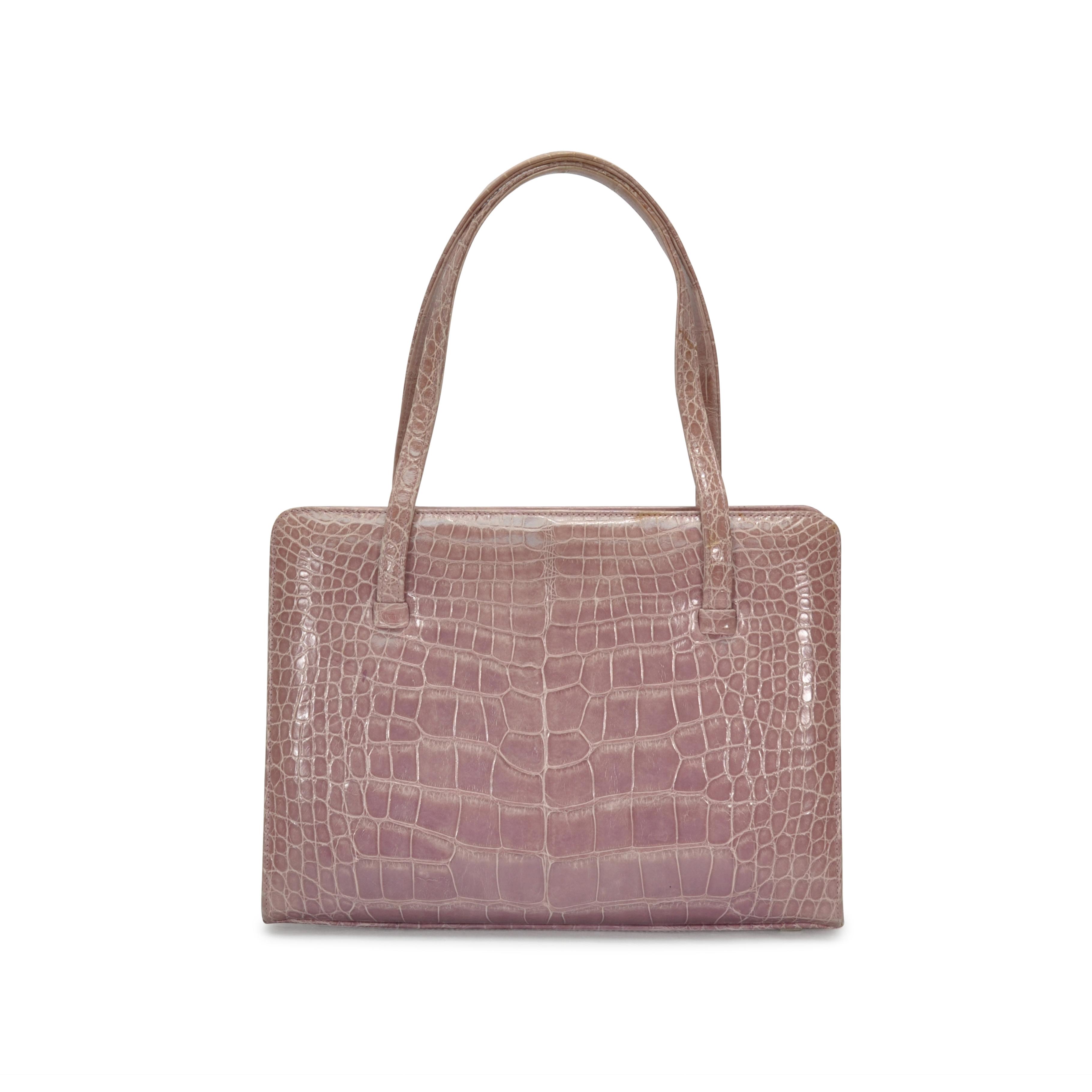 603bec00143a Authentic Second Hand Lambertson Truex Alligator Handbag (PSS-265-00029)