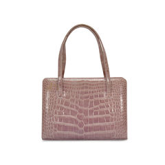 Lambertson truex purple crocodile skin handbag 2
