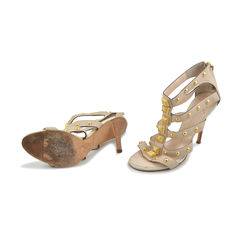 Giuseppe zanotti studded gladiator beige sandals 2