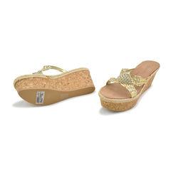 Vicini tapeet rhinestone weaved sandals gold 2