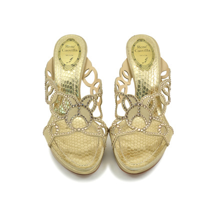 Authentic Second Hand René Caovilla Crystal Embellished Sandals (PSS-097-00078)