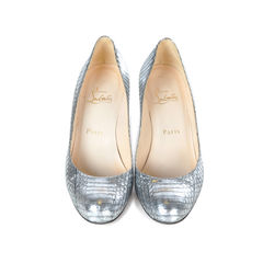 Silver Python Simple Pumps