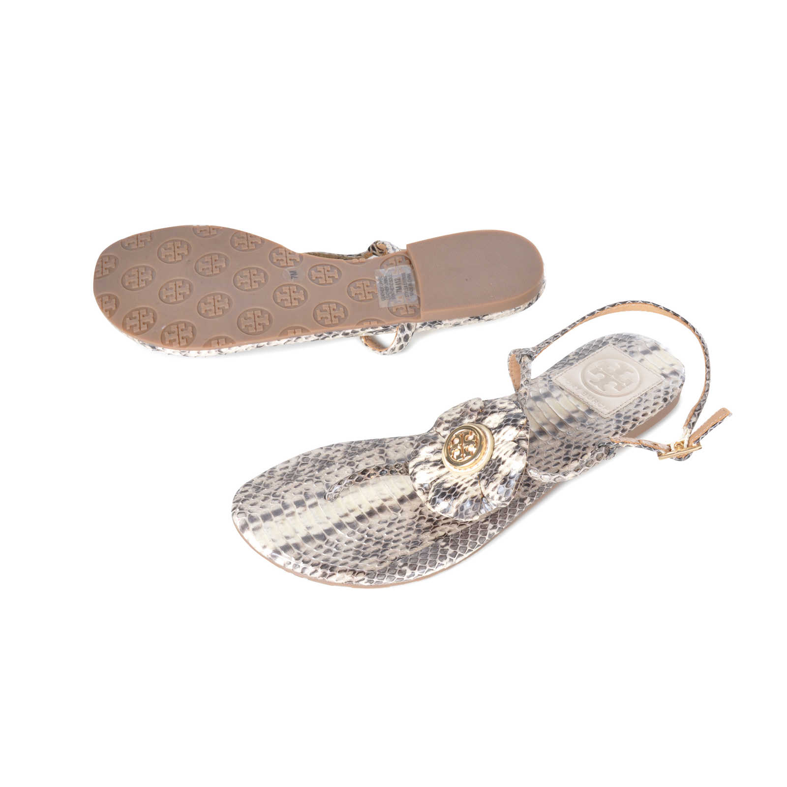 8cfcd72f0ea ... Authentic Second Hand Tory Burch Python Sandals (PSS-098-00016) -  Thumbnail ...