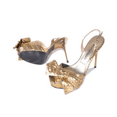 Bruno frisoni gold ribbon detail heels 2