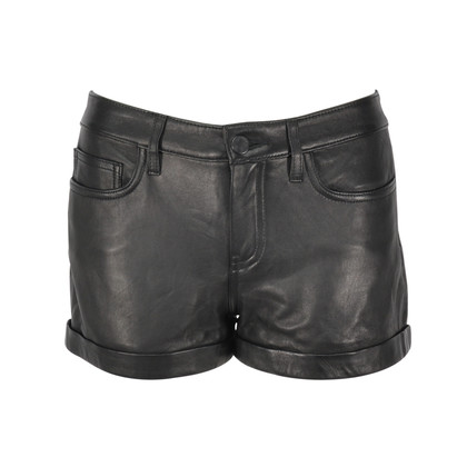 Theory Rizda Washed Leather Shorts