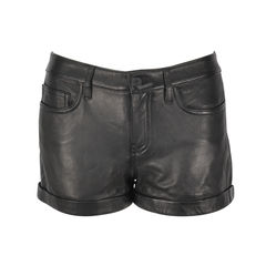 Rizda Washed Leather Shorts
